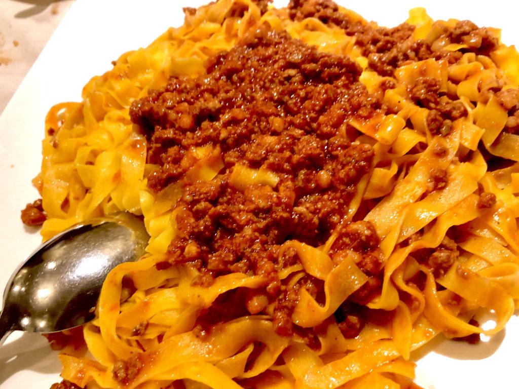 tagliatelle al ragout specialità romagnola, cucina romagnola